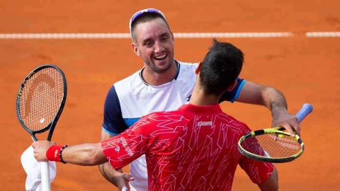Djokovic was a 4-1 4-1 winner over fellow Serb Viktor Troicki