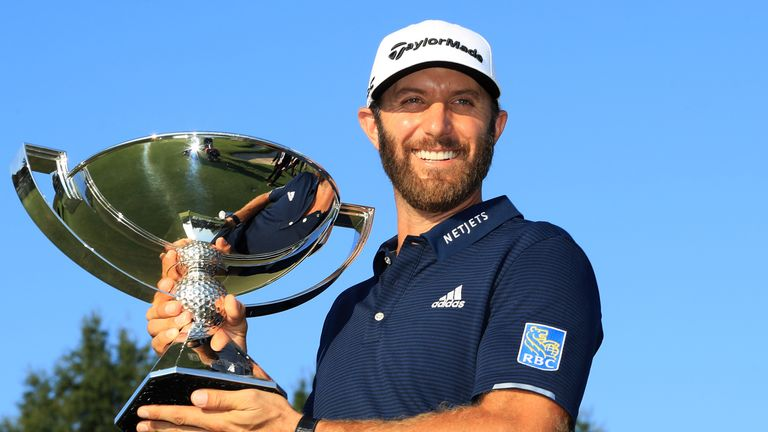 Johnson claimed a three-shot victory at the Tour Championship, where a staggered scoring system was in place