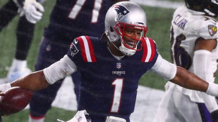 Cam Newton threw his first touchdown pass for the Patriots since Week Three, while he also rushed in for a score