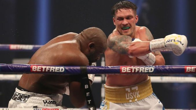 Usyk is now unbeaten in 18 pro fights