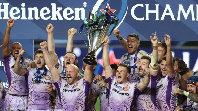 Exeter won the Champions Cup title last season