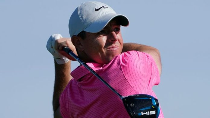 Rory McIlroy fired a 66 to get within four of the lead