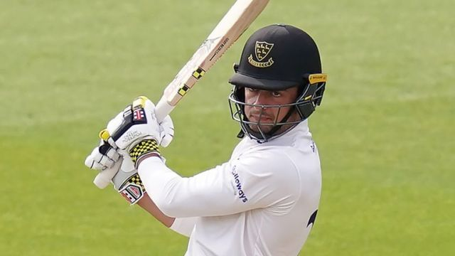 Tom Haines held the Sussex innings together at Emirates Old Trafford