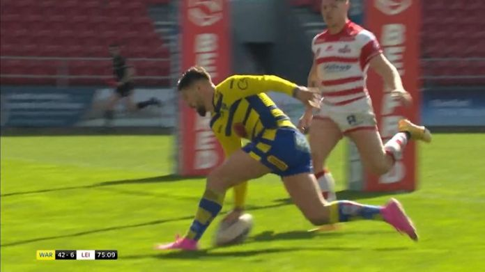 Watch Gareth Widdop's exceptional try from Warrington's win over Leigh