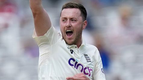 Robinson's seven-wicket return on Test debut was overshadowed by the emergence of his historical tweets