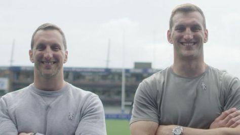 Sam Warburton and twin brother Ben. Prostate Cancer UK celebrates the importance of men showing appreciation for one another