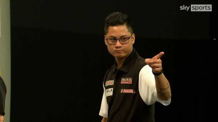 Rowby-John Rodriguez produced a performance to remember as he broke Dave Chisnall twice as Austria beat England to reach the World Cup finals.