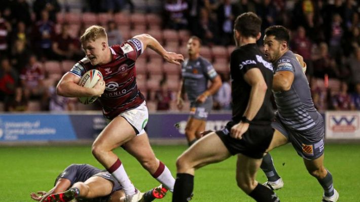 Highlights from the Betfred Super League clash between Wigan Warriors and Catalans Dragons on September 17