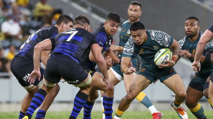 Australia secured a comfortable 27-8 victory over Argentina in their Rugby Championship clash
