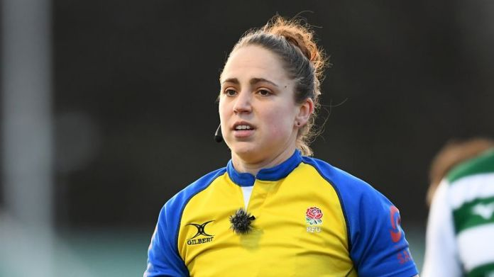 Sara Cox will become the first female to referee a Premiership game