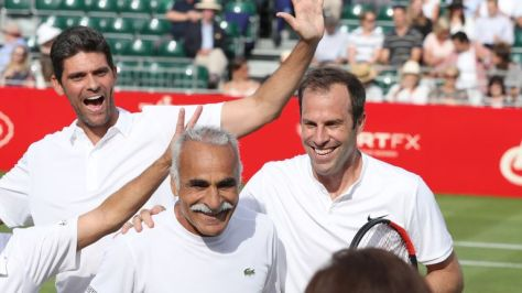 Mark Phillippoussis, Mansour Bahrami and Greg Rusedski will be in action at the iconic Royal Albert Hall along with Raducanu