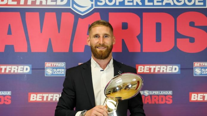 Sam Tomkins was named 2021's Steve Prescott Man of Steel, his second time winning the award after picking it up in 2012