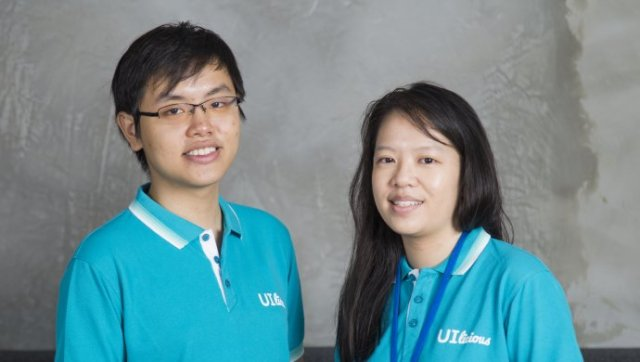UI-licious co-founders Eugene Cheah (L) and Shi Ling Tai