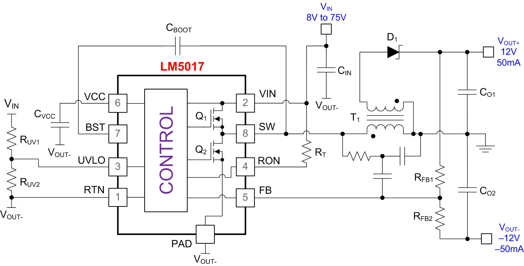 Powering Bipolar Rails With Wide Vin Fly Buck Converter