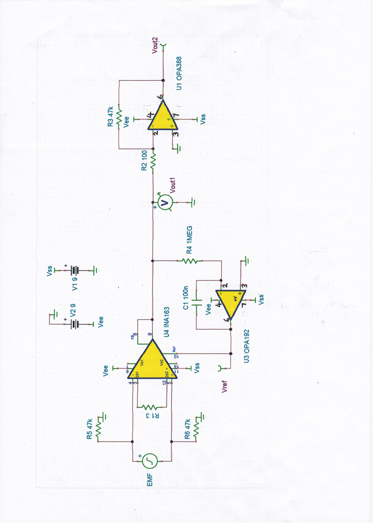 Resolved Ina126 Amplifying A Very Small A C Voltage