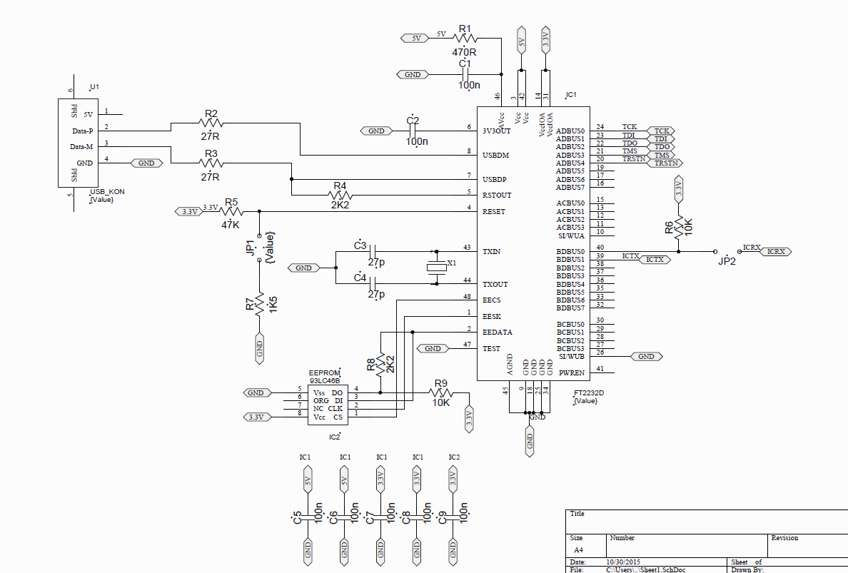 Usb Connection Schematic