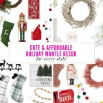 Cute And Affordable Modern Christmas Mantle Ideas