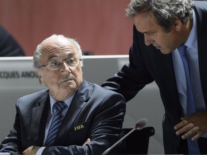 Sepp Blatter and Michel Platini were punished in December over a £1.3m 'disloyal payment' Platini admits draw for 1998 World Cup was fixed so France faced Brazil in final Platini admits draw for 1998 World Cup was fixed so France faced Brazil in final sepp blatter michel platini 3456889