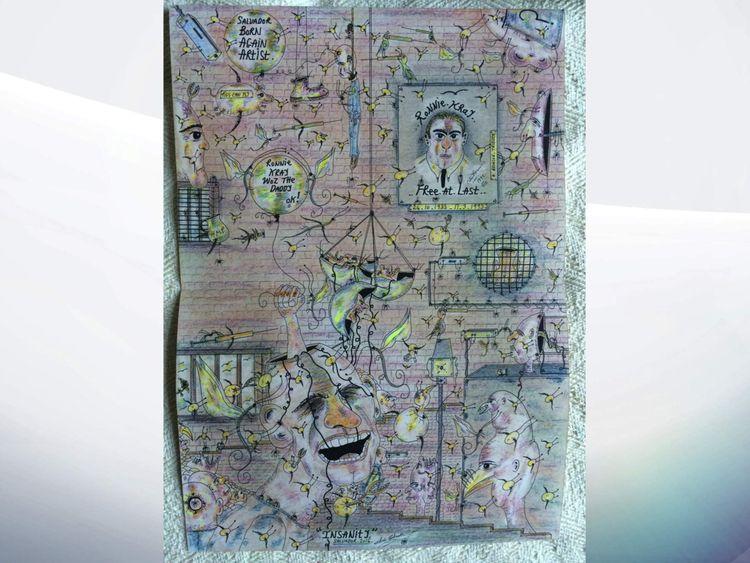 Charles Bronson artwork, Kray tribute