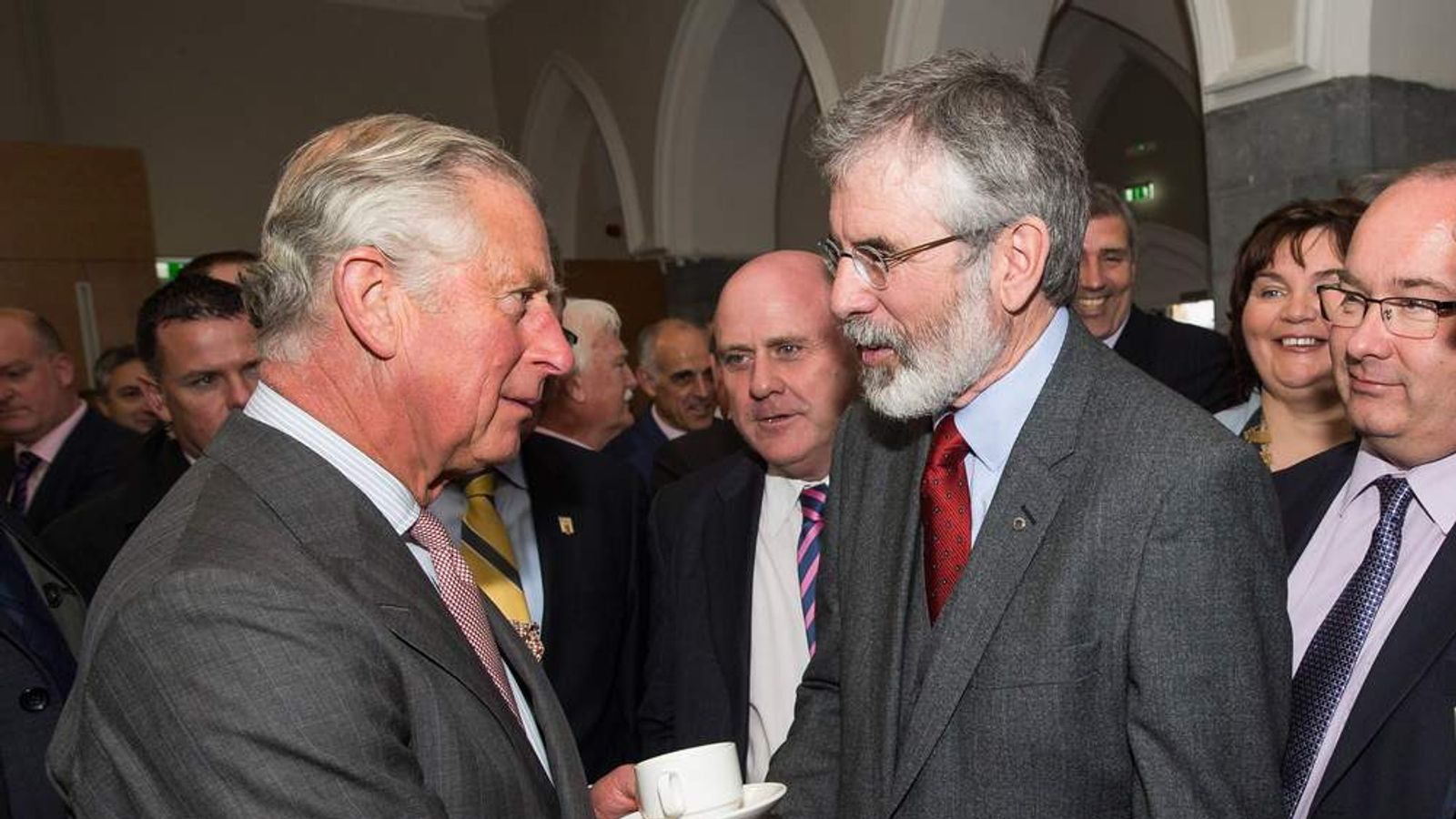 Image result for Theresa May meets Gerry Adams