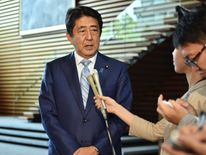 Japan's Prime Minister Shinzo Abe hopes his country will lead the field in robotics