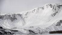 The Myrdalsjokull glacier, which is part of the ice cap sealing the Katla volcano