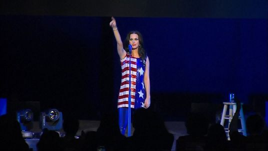 Hillary Clinton is wooing Pennsylvania voters with a free performance by pop star Katy Perry.