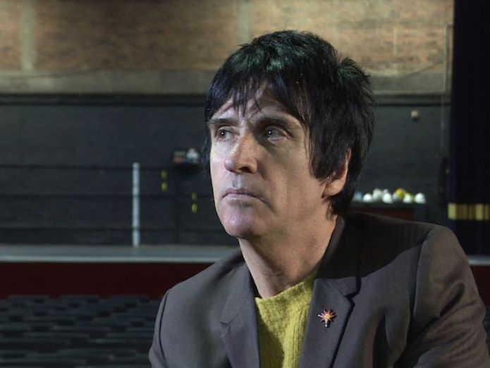 Johnny Marr speaks to Sky News in Manchester's Apollo venue