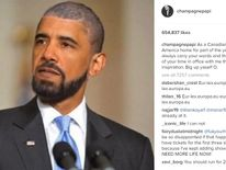 "Canadian rapper Drake wrote ""I will always carry your words and the memory of your time in office"""