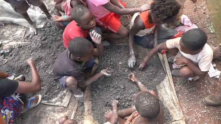 Children as young as four work in the cobalt mines