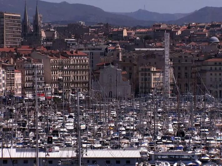 Marseille's marina, jammed with yachts