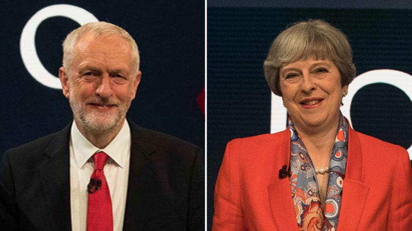 Jeremy Corbyn and Theresa May took part in the first live TV audience Q&A