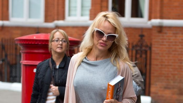 Assange supporter Pamela Anderson made several visits to the embassy