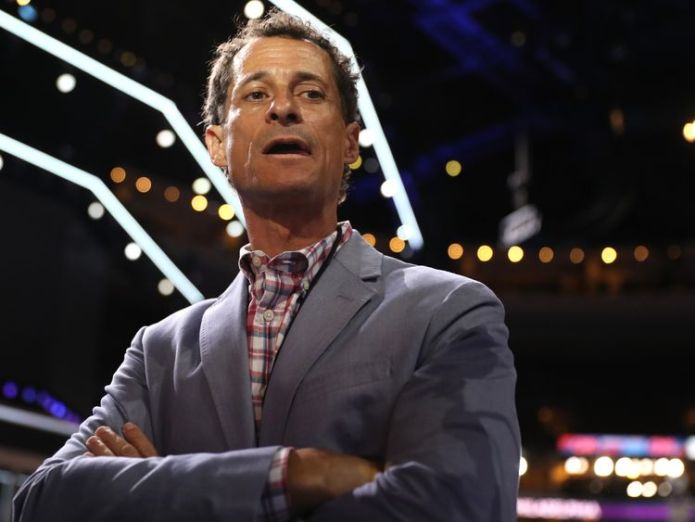 Anthony Weiner pictured at the Democratic National Convention in July 2016