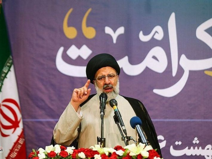 Ebrahim Raisi gestures in this undated handout photo provided by Tasnim News Agency on May 9, 2017