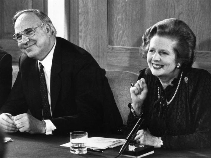 Mr Kohl formed a close alliance with British Prime Minister Margaret Thatcher