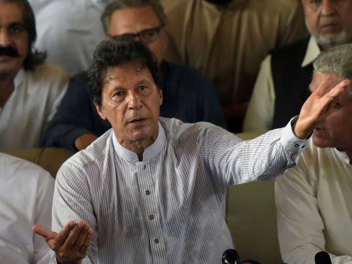 Opposition leader and former cricket star Imran Khan spearheaded the campaign against Sharif