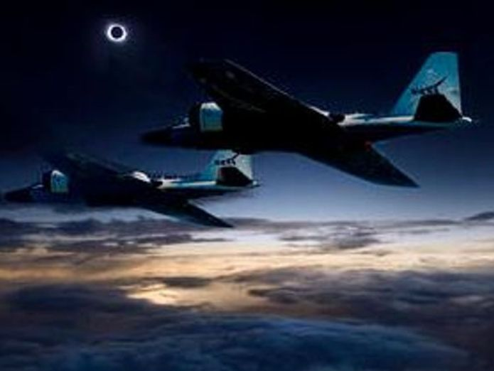 A team of NASA-funded scientists will 'chase' the eclipse in research aircraft. Credit: NASA/Faroe Islands/SwRI Solar spectacle 'will be like looking at other world's sky' Solar spectacle 'will be like looking at other world's sky' 6b8b6d1d21fa4f44fcdbf1daf9abf1b3e58751e0538022ad7871ccc0eca555fd 4061003