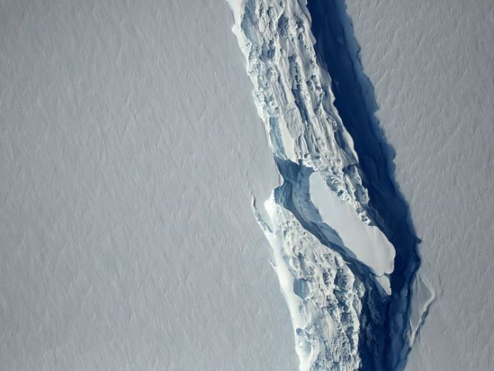 An aerial view of the rift in the Larsen C ice shelf in November Scientists find 91 new volcanoes under Antarctic ice sheet Scientists find 91 new volcanoes under Antarctic ice sheet 83d03b973ed574adae05f7cefef8c5d341b4ed880458598ca3ae7215cc0c88c2 3999421