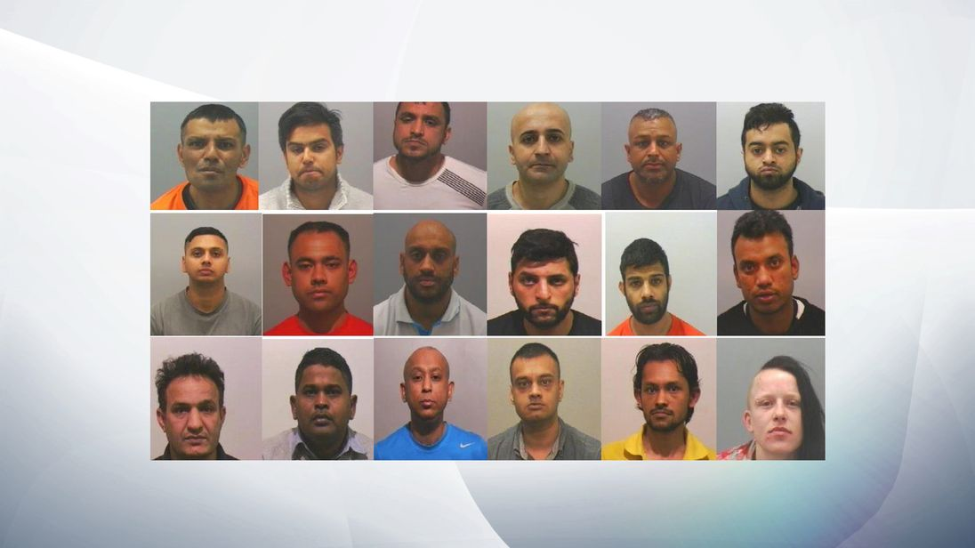 A total of 17 men and one woman have been convicted after four trials