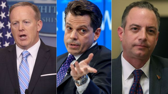Sean Spicer, Anthony Scaramucci and Reince Priebus People in White House working to eject Donald Trump People in White House working to eject Donald Trump 30e736aa0940c86bdc774e020676d6d7ba96ebb115347574a2f2de1dfe9cdc23 4062947