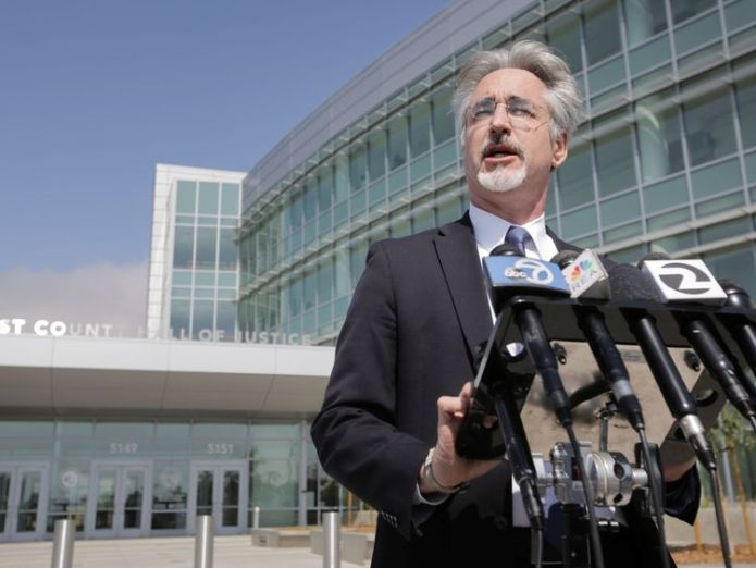 Attorney Ken Wine speaks to the press outside the Alameda County Superior Court regarding the arraignment of Northwestern University professor Wyndham Lathem Oxford Uni worker in court on US murder charge Oxford Uni worker in court on US murder charge 02ae0fa3965c35caa8788562321f8f721928866e11a52c6de23be4fbfc762420 4071612