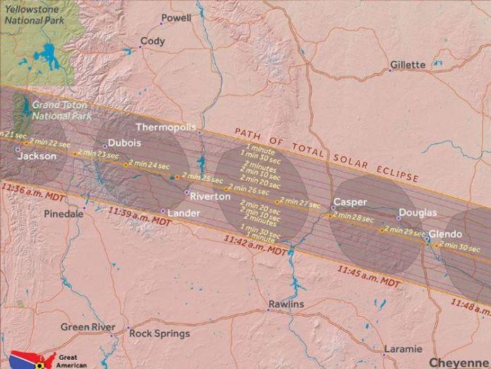 Wyoming. Pic: Great American Eclipse Where natural phenonemon will blot out the Sun Where natural phenonemon will blot out the Sun 2e0f0f932b7ad73f9aa0fb7f1869520b36de1a158fd839c109464e6962da51e5 4074377