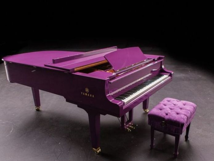 Prince's Yamaha piano. Courtesy: Prince's Estate prince's purple is now an official colour called love symbol #2 Prince's purple is now an official colour called Love Symbol #2 4ef4fa6732c359397d2e4d940030c0a66e5d65fef13edb0c677d45de896d124e 4074100