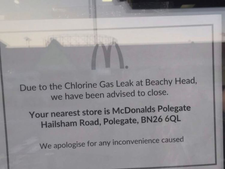 A local McDonald's was one of the businesses that shut up shop. Pic: Harry Hepworth
