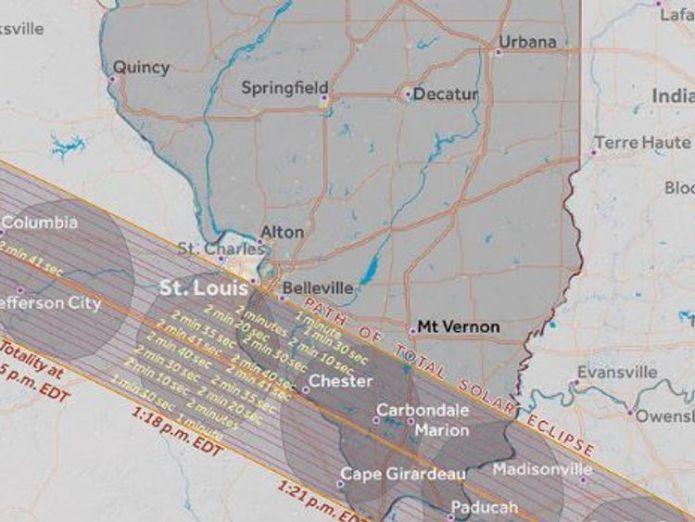 Illinois. Pic: Great American Eclipse Where natural phenonemon will blot out the Sun Where natural phenonemon will blot out the Sun c12c236f90c37d78121adea9460366bbcf87cbf92e07a60ad132162f503da4fd 4074383