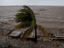 A damaged pier in Puerto de Jobos, Puerto Rico