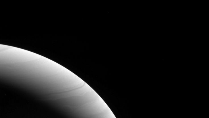 Saturn captured in the early light of dawn. Pic: NASA