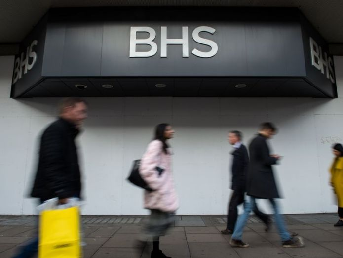 Shoppers walk past the boarded up BHS store on Oxford Street Green sparks legal battle with FRC over BHS audit verdict Green sparks legal battle with FRC over BHS audit verdict skynews bhs shop philip green 4111566