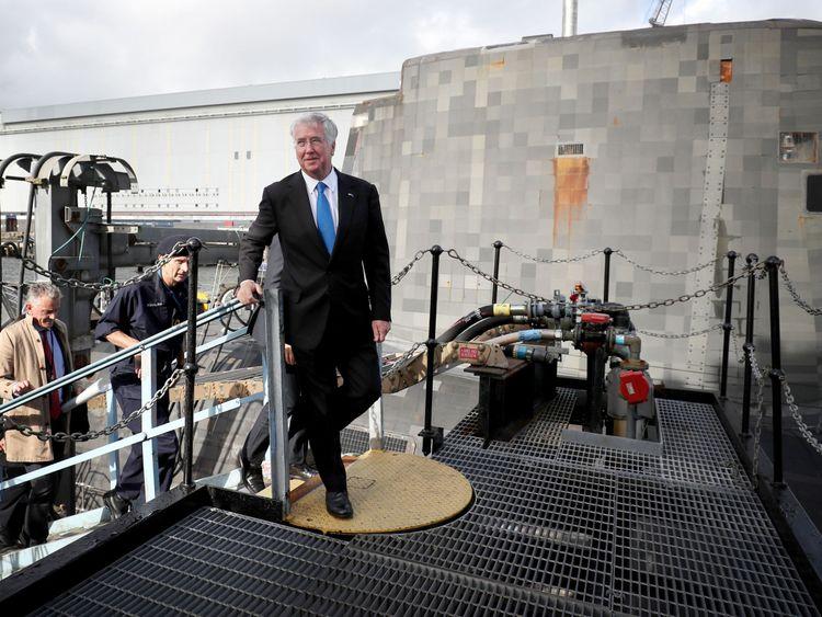 Sir Michael Fallon visits HM Naval Base Clyde, Faslane, for security talks